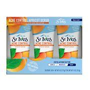 St. Ives Blemish Control Apricot Face Scrub, 3 ct./6 oz.