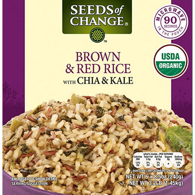 Seeds of Change Brown & Red Rice With Chia & Kale, 6 pk./8.5 oz.