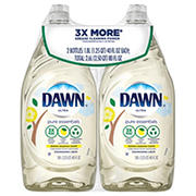 Dawn Pure Essentials Lemon Essence Liquid Dish Soap, 2 pk.
