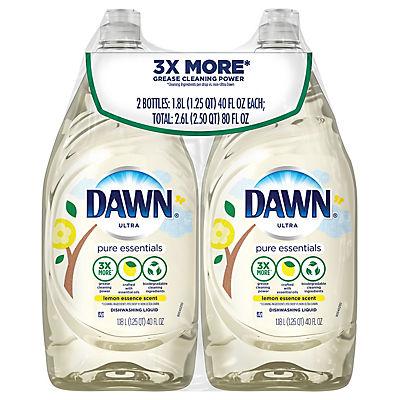 Dawn Pure Essentials Lemon Essence Liquid Dish Soap, 2 pk.
