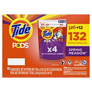 Tide PODS Laundry Detergent Pacs, Spring Meadow, 132 ct.
