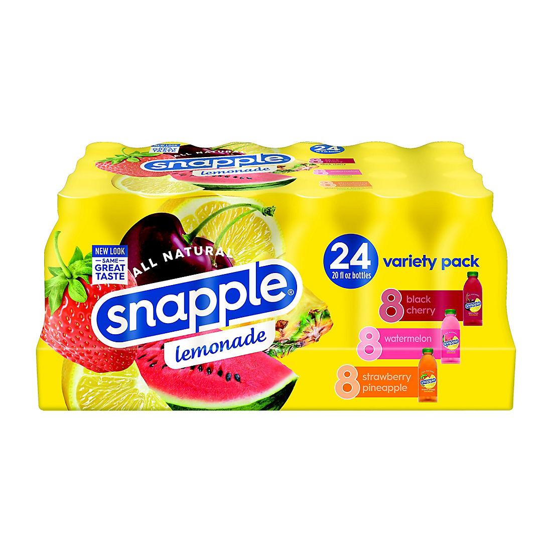 Snapple All Natural Variety Lemonade, 24 pk /20 oz