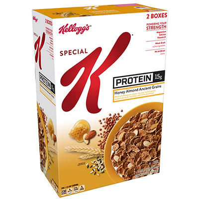 Kellogg's Special K Protein Honey Almond Ancient Grains Cereal, , 2 pk