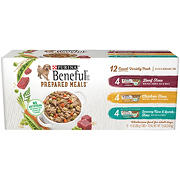 Purina Beneful Prepared Meals Variety Pack Dog Food, 10 oz. Plastic Tubs, 12 ct.