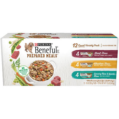 Purina Beneful Prepared Meals Variety Pack Dog Food, 10 oz. Plastic Tu