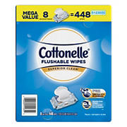 Cottonelle FreshCare Flushable Wet Wipes, 448 ct.