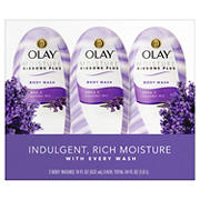 Olay Moisture Ribbons Plus Shea with Lavender Oil Body Wash, 3 ct.