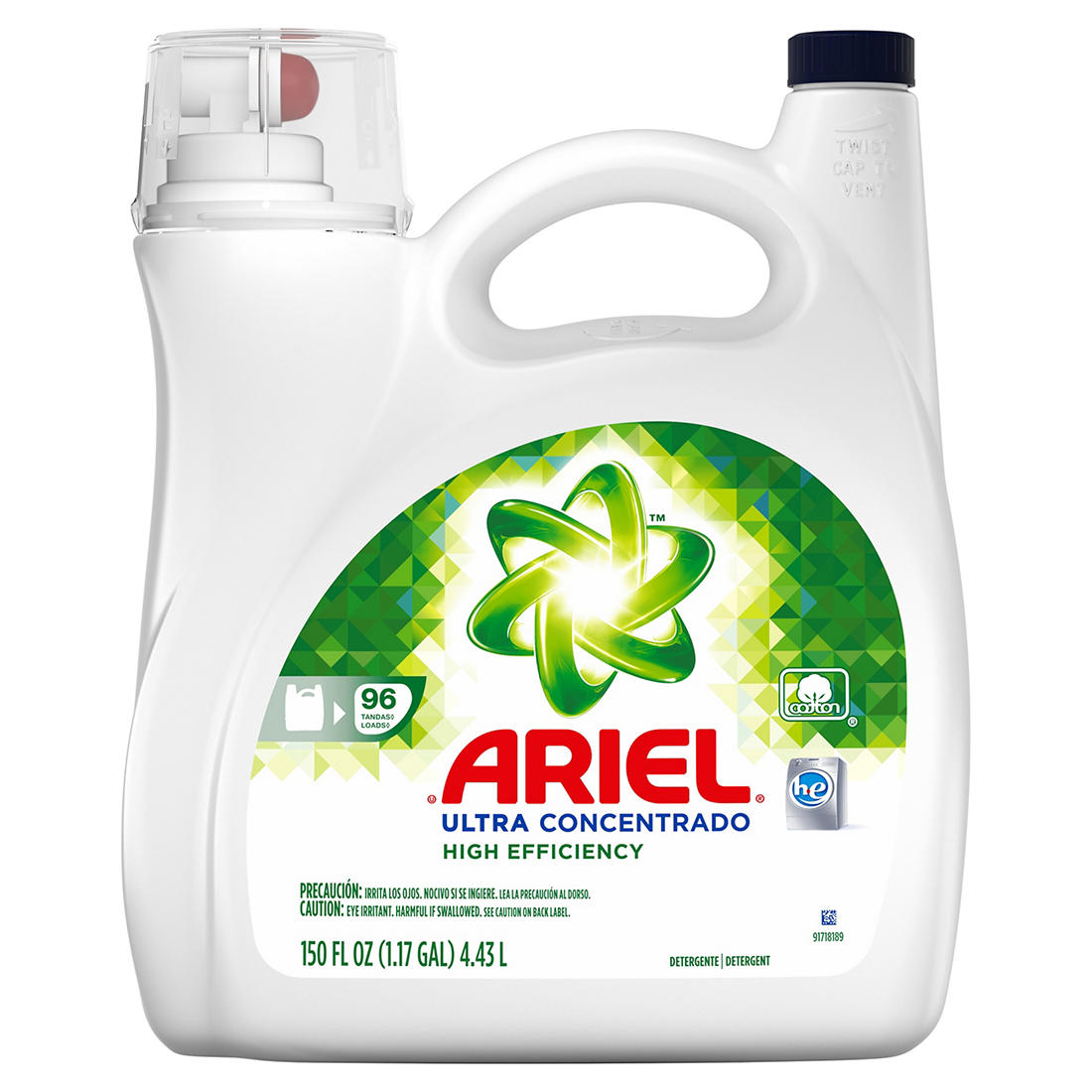 Ariel Ultra Concentrated High Efficiency Liquid Laundry Detergent, 96  Loads, 150 fl  oz