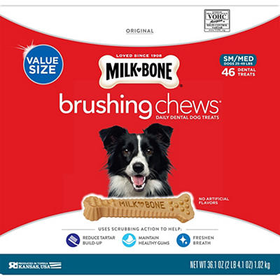 Milk-Bone Brushing Chews Daily Dental Dog Treats, 46 ct.