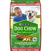 Purina Dog Chow Complete Adult with Real Chicken Dry Dog Food, 50 lbs.