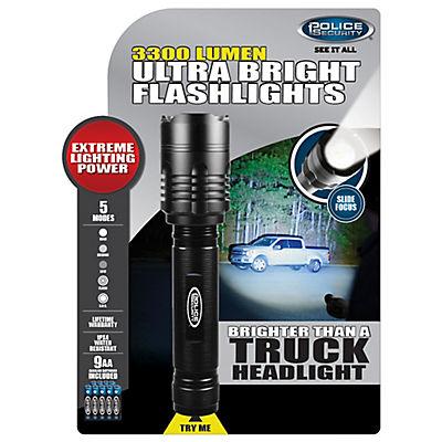 Police Security 3,300-Lumen Flashlight