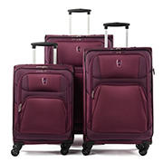 Atlantic 3-Pc. Expandable Spinner Set - Plum