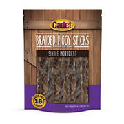 Cadet Braided Piggy Sticks Premium Dog Treats, 16 ct.