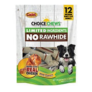Cadet Choice Chews Rawhide-Free Chicken Dog Treats, 12 ct.
