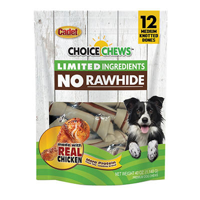 Cadet Choice Chews Rawhide-Free Chicken Dog Treats, 12 ct.