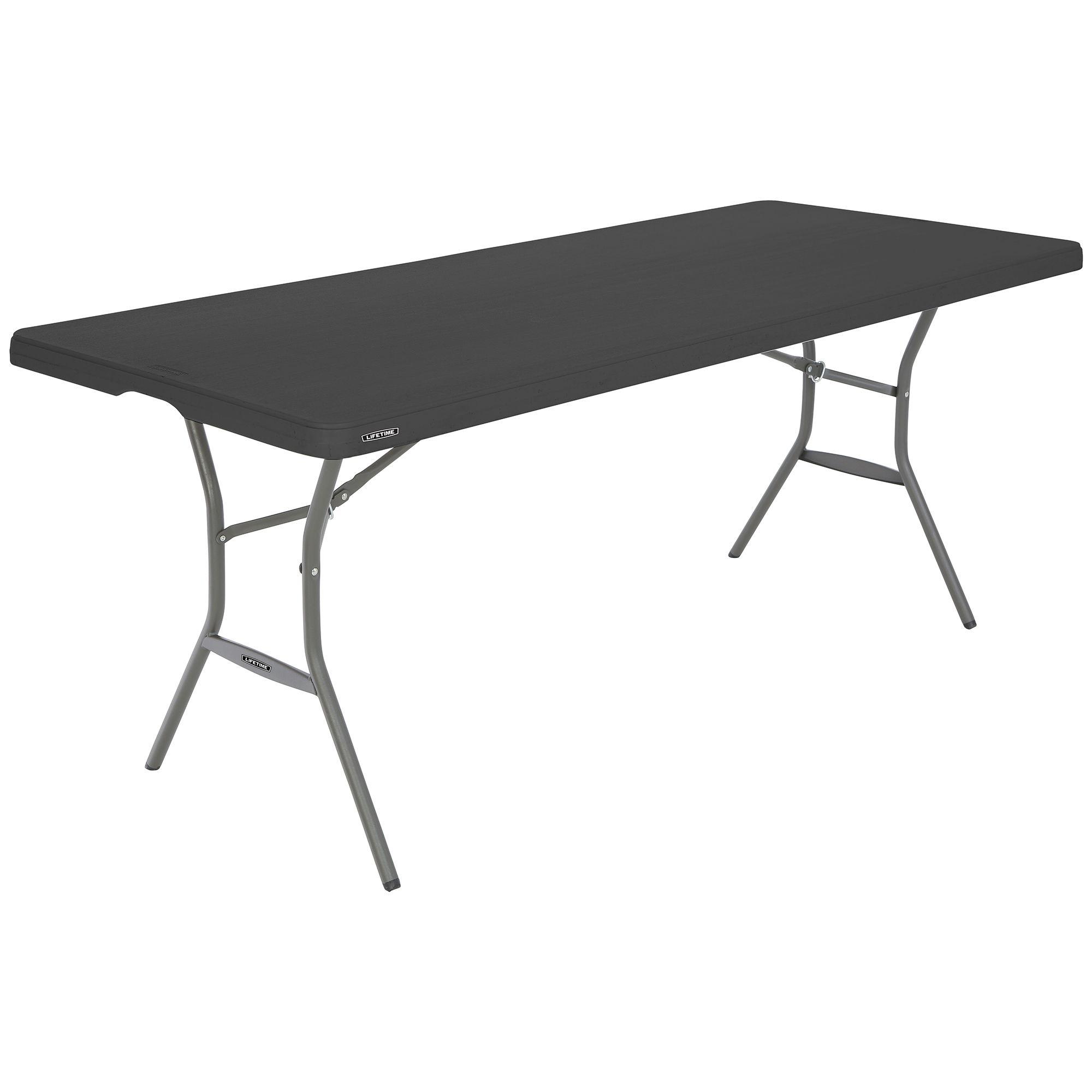 - Lifetime 6' Essential Folding Nesting Table - Black - BJs