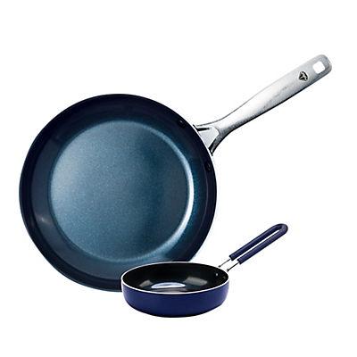 """Blue Diamond Mini Egg Pan and 9.5"""" Fry Pan Set"""