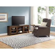 """Classic Farmhouse TV Stand for TVs up to 75"""" - Medium Brown"""