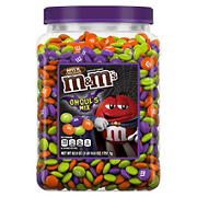 M&M'S Ghoul's Mix Bulk Milk Chocolate Halloween Candy, 62-Ounce Jar