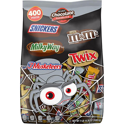 Mars Chocolate Favorites Halloween Candy Bars Variety Bag, 400 ct.