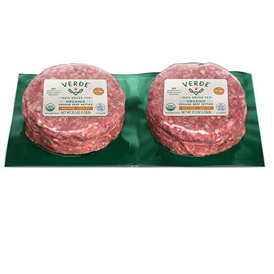 Verde Organic Grass Fed 80% Lean Beef Patties, 2 pk./21.3 oz.
