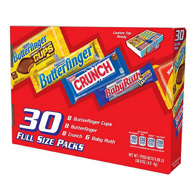 Nestle Assorted Chocolate Bars, 30 ct.