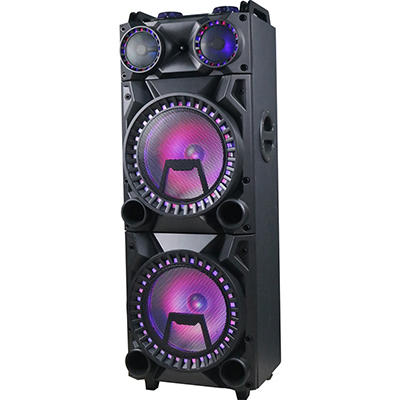 "QFX Dual 12"" Portable Disco Bluetooth Speaker - Black"