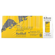 Red Bull Tropical Energy Drink Yellow Edition, 24 pk.