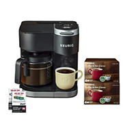 Keurig K-Duo Single Coffee Maker, 12 K-Cup Pods and $20 Off Coffee Coupon