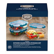 Berkley Jensen 6-Pc. Divided Glass Food Storage Set