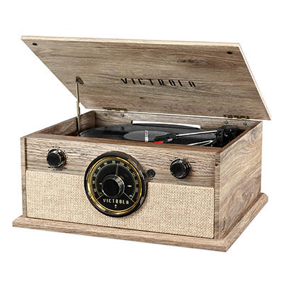 Victrola Cambridge 4-in-1 Turntable with Bluetooth and FM Radio