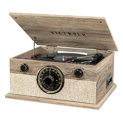 Victrola Brookline 6-in-1 Record Player with Bluetooth, 3-Speed Turnta