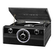 Victrola Metropolitan 4-1 Record Player with Bluetooth, 3-Speed Turntable and Radio - Gray