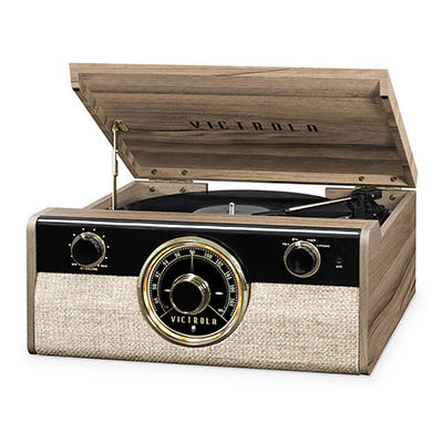 Victrola Metropolitan 4-1 Record Player with Bluetooth, 3-Speed Turnta