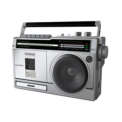 ION Audio Retro Rocker Portable Boombox with Bluetooth