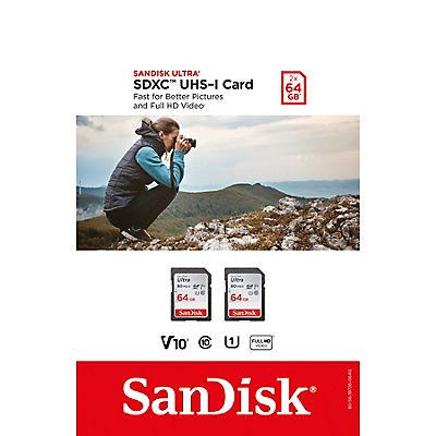 SanDisk 64GB Ultra SDXC Cards, 2 pk.