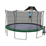 Propel Trampoline 15' Round Trampoline with Safety Enclosure, Jump-N-Jam, Mister, Anchor Kit and Spring Puller