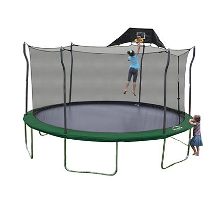 Propel Trampoline 15' Round Trampoline with Safety Enclosure, Jump-N-J
