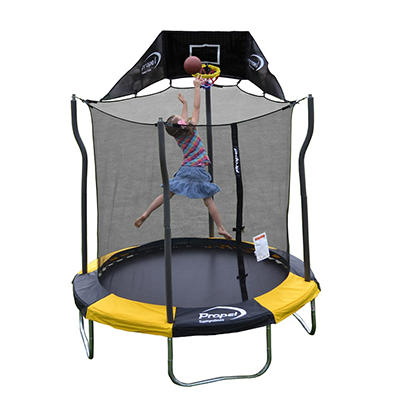 Propel Trampoline 7' Round Trampoline with Safety Enclosure and Jump-N