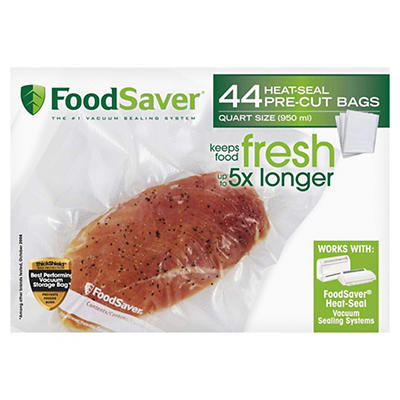 FoodSaver Quart-Size Vacuum Storage Bags, 44 ct.