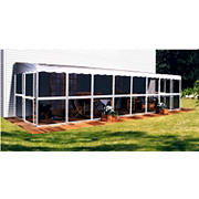 "Patio-Mate 30'10"" x 7'8"" Screened Enclosure - White/Gray"