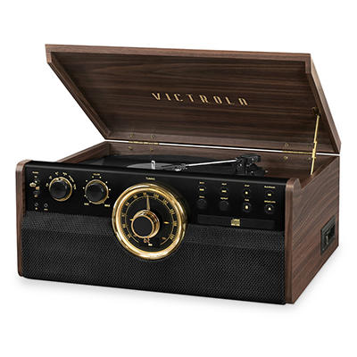 Victrola Empire 6-in-1 Record Player with Bluetooth, 3-Speed Turntable