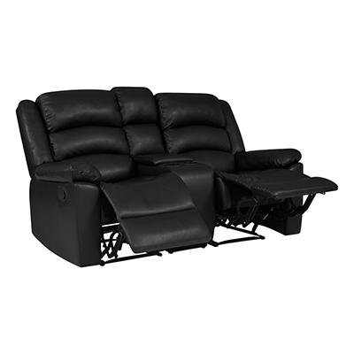 ProLounger Fabric Wall Hugger Recliner Loveseat with Console, 2 Seat -