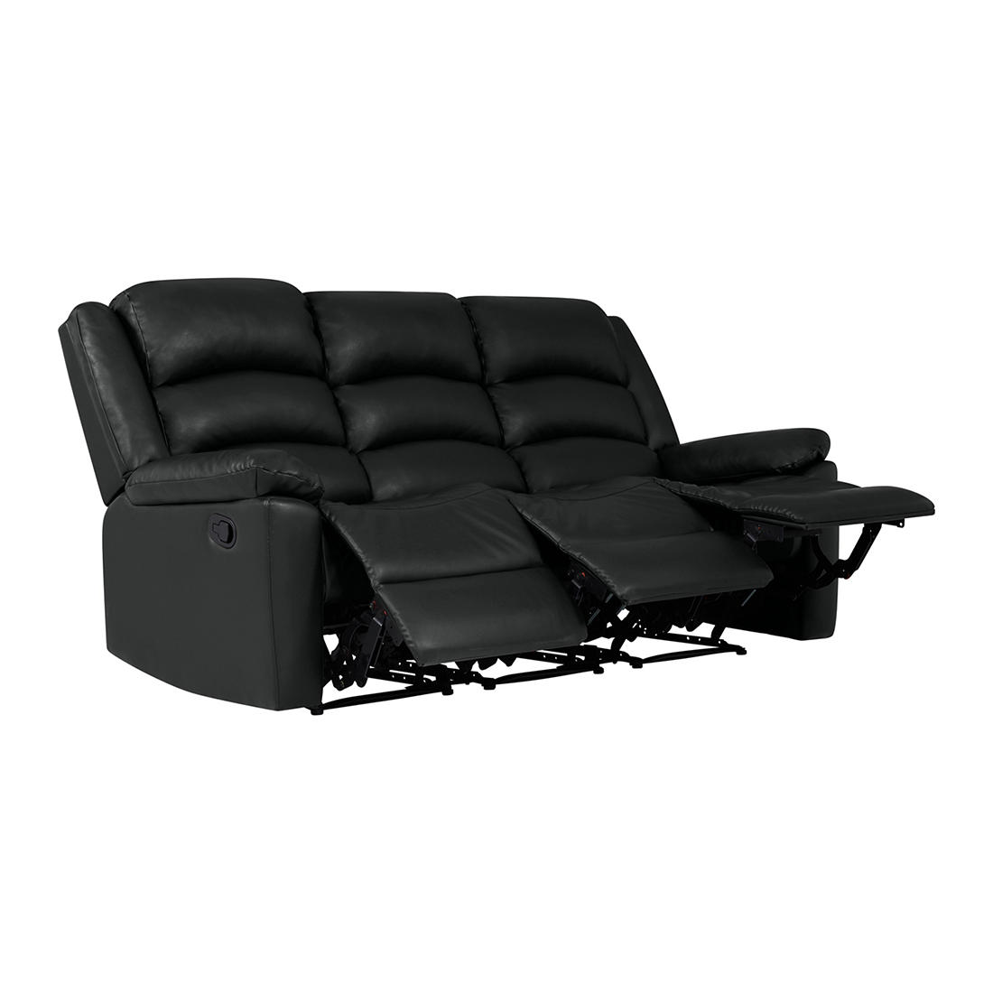 Peachy Prolounger Fabric Wall Hugger Recliner Sofa 3 Seats Black Gmtry Best Dining Table And Chair Ideas Images Gmtryco