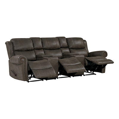 ProLounger Faux Leather Wall Hugger Recliner Sofa with Consoles, 3 Sea