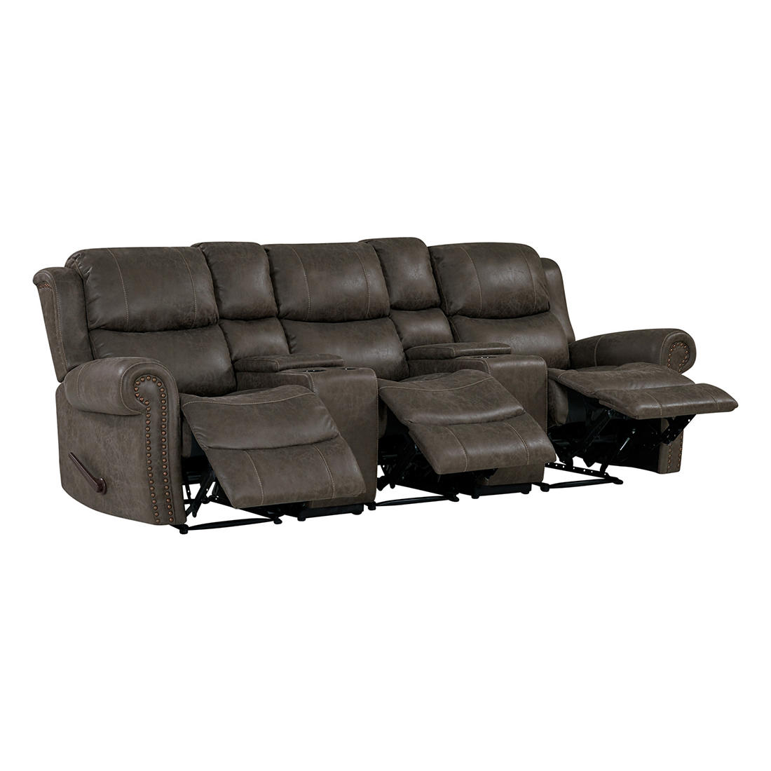 ProLounger Faux Leather Wall Hugger Recliner Sofa with ...