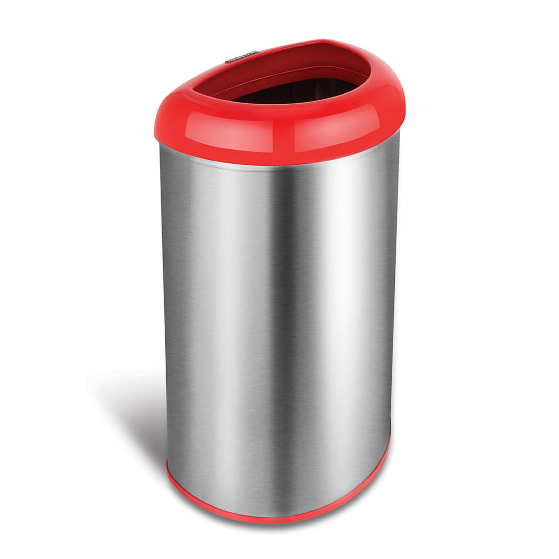 Nine Stars 13.2-Gal. Stainless Steel Open Top Trash Can - Red