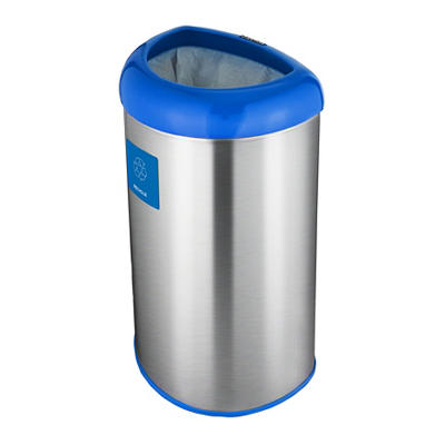 Nine Stars 13.2-Gal. Stainless Steel Open Top Recycle Trash Can - Blue