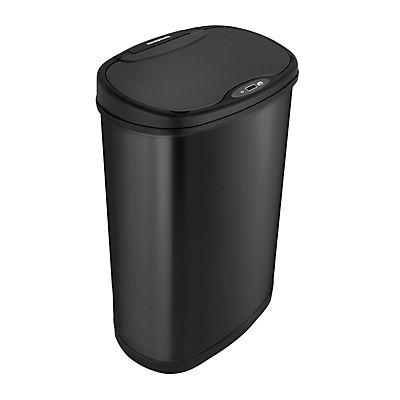 Nine Stars 13.2-Gal. Stainless Steel Sensor Trash Can - Black
