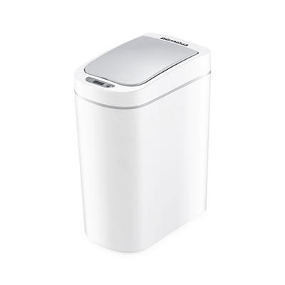 Nine Stars 1.8-Gal. Plastic Sensor Trash Can - White